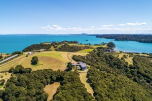 Arial view Woodside Bay home