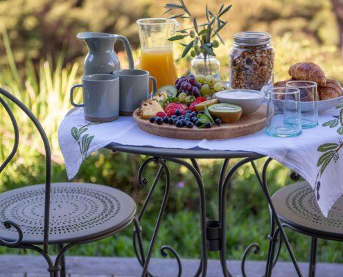 Delicious Breakfast basket at Woodside Bay Luxury Accommodation Waiheke Island