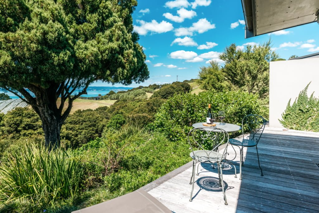 Rural view from Woodside Bay Luxury Accommodation
