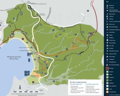 Guided Walks in Whakanewha Regional Park Waiheke Island